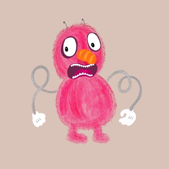 Fuzzy-Man-Peach Art Print