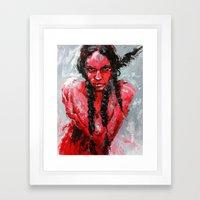 Resisted Rachel Framed Art Print