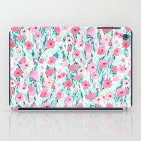 Flower Field Pink Mint iPad Case