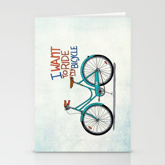 Bicycle Stationery Card
