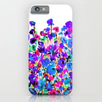 iPhone & iPod Case featuring Flower Fields Blue by Amy Sia