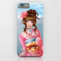 iPhone & iPod Case featuring Japanese pink kimono by Rosalys