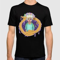 ADVENTURE TIME Mens Fitted Tee Black SMALL