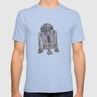 R2D2 Mens Fitted Tee Athletic Blue SMALL