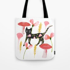 Chat & Champignons Tote Bag