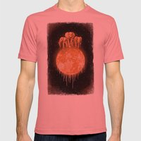 Elephants On Moon (varia… Mens Fitted Tee Pomegranate SMALL