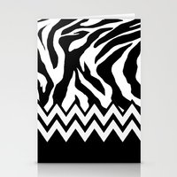Zebra Chevron Stationery Cards