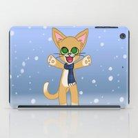 Happy Cat Winter style iPad Case