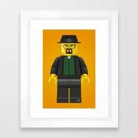 Lego Walter White - Vector Framed Art Print