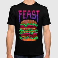 FEAST Mens Fitted Tee Black SMALL