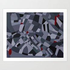 London Road Blocks Art Print
