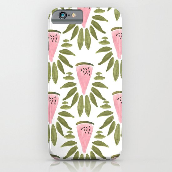 Watermelon and Leaves iPhone & iPod Case