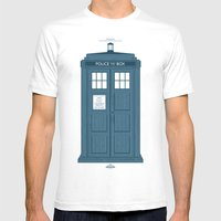 TARDIS Mens Fitted Tee White SMALL