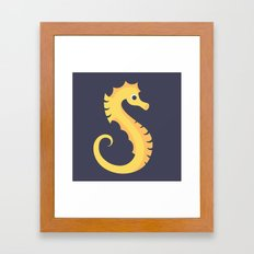Letter S // Animal Alphabet // Seahorse Framed Art Print