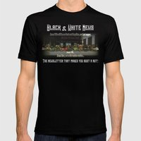 The Black & White Last Supper Mens Fitted Tee Black SMALL