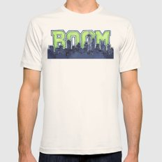 Seattle Legion of Boom Space Needle Skyline Watercolor  Mens Fitted Tee Natural SMALL