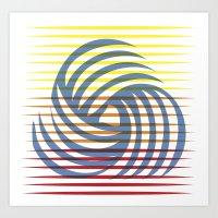 Wirbelnde Sonne Art Print