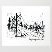SF Bay Bridge Art Print