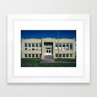 Antelope School Framed Art Print