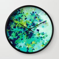 Aquamarine Addiction Wall Clock