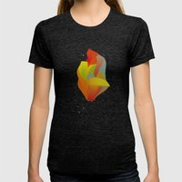 Shocking Colors Womens Fitted Tee Tri-Black SMALL