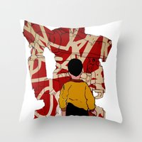 Graffiti Transformer Throw Pillow