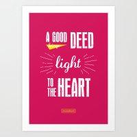 A Good Deed Brings Light… Art Print