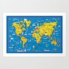 Big Fun World Map Art Print
