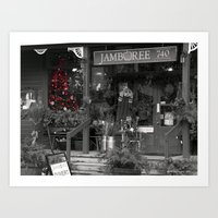 Christmas Store Art Print