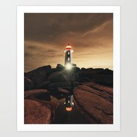 Glow of the Street Art Print