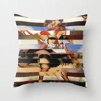 Glitch Pin-Up Redux: Daisy Throw Pillow