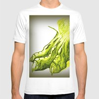 Dragon's Claw Mens Fitted Tee White SMALL