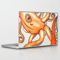 octopus Laptop & iPad Skins featuring Octopus  by Dylan Morang