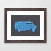 TRON Van Framed Art Print