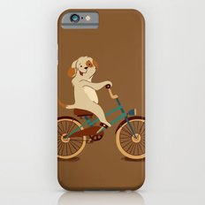 Puppy on the bike Slim Case iPhone 6s