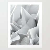 Art Print featuring White Noiz by ThoughtCloud