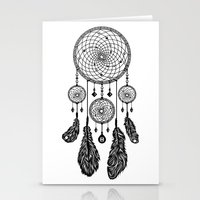 Dreamcatcher (Black & Wh… Stationery Cards