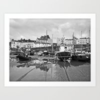 Tenby Harbour Boats.Pemb… Art Print
