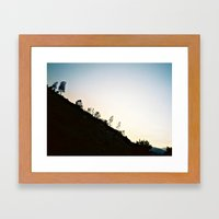 Mountain Dusk Framed Art Print