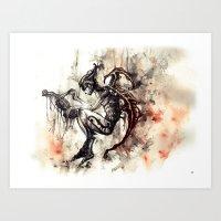 The Violin Maker Art Print