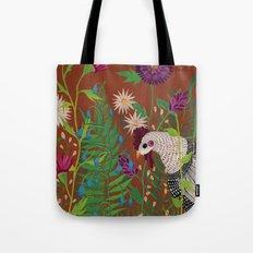 Chicken in the Garden Tote Bag