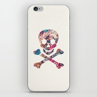 Pink Teal Vintage Floral… iPhone & iPod Skin