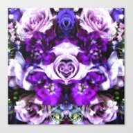 Purple Pink Flowers Canvas Print