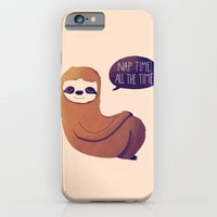 iPhone & iPod Case featuring Nap Time All The Time by Nan Lawson