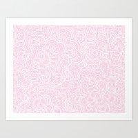 Pink Paisleyesque Art Print