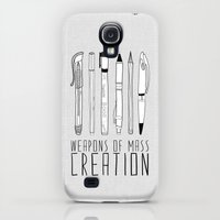 Galaxy S4 Cases featuring weapons of mass creation by Bianca Green