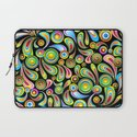 Psychedelic Color Drops Abstract Art Design Laptop Sleeve