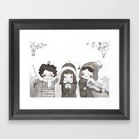 Fa La La La La Framed Art Print