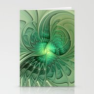 The Abstract Action, Fra… Stationery Cards