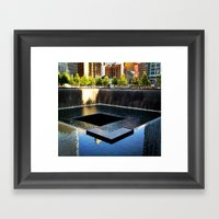 9/11 Memorial South Pool Framed Art Print